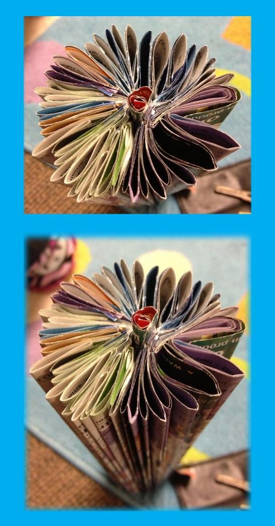 Magazine flower